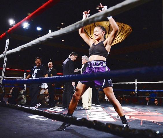 "Knockout Puncher of the Year is Adelaida ""La Cobra"" Ruiz"