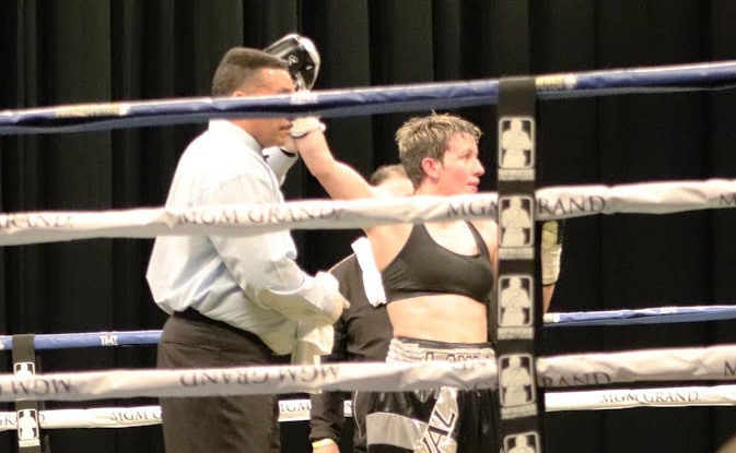 Layla McCarter Pounds Out Win in Las Vegas