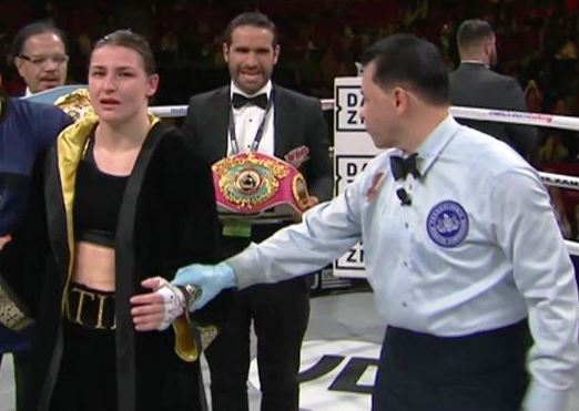 Katie Taylor Batters Rose Volante in Philly