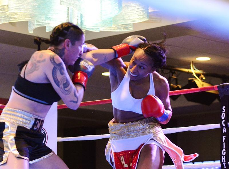 Raquel Miller lands over the top