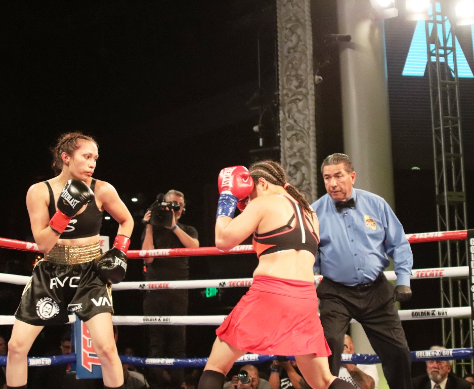 "Seniesa ""Super Bad"" Estrada Wins by KO in Hollywood"