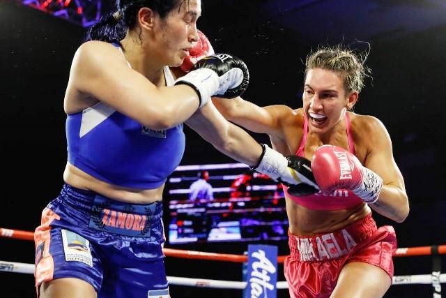 Mikaela Mayer Stops Argentina's Alejandra Zamora