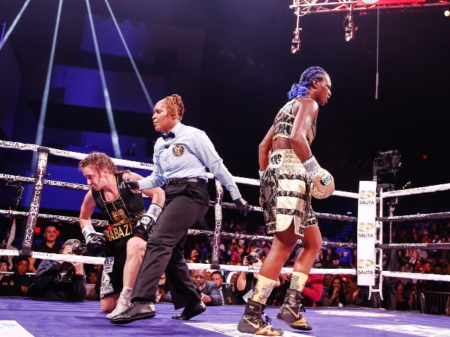 Claressa-Shields-knocks-down-Ivana-Habazin