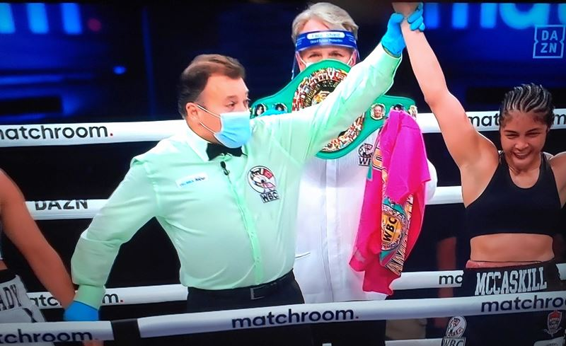 Jessica McCaskill Takes Welterweight Titles from Cecilia Braekhus