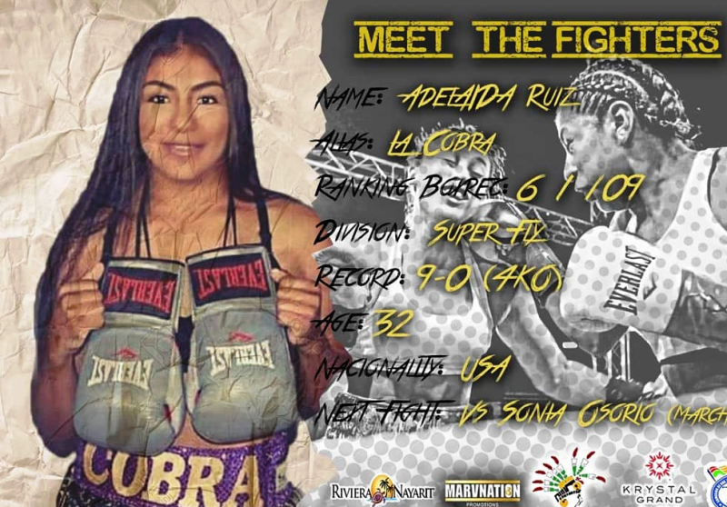 New Promoter Debuts With Adelaida Ruiz Fight in Mexico