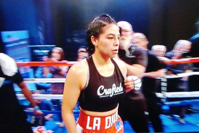 L.A. Fighters Maricela Cornejo and Two Others in Action